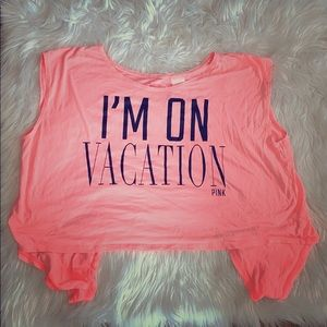 L tie back vacation shirt